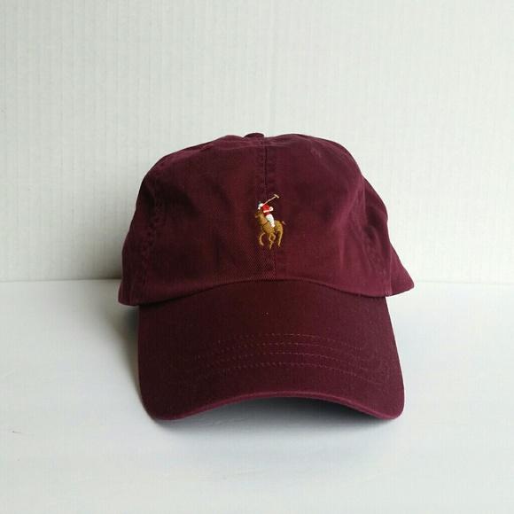 39ffbd2292 NEW Ralph Lauren Baseball Cap Red Burgundy